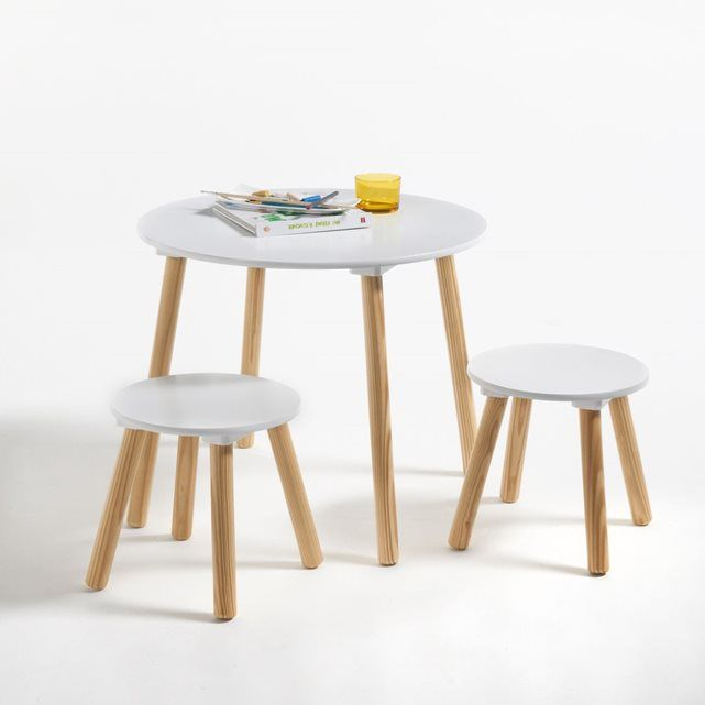 Table et 2 tabourets enfant Jimi La Redoute Interieurs | Chambre A ...