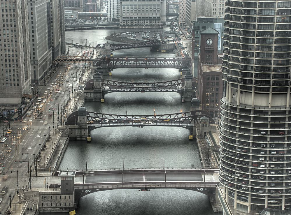 Chicago Loop Bridges - Chicago, Illinois. Photo by...James S. Phillips.