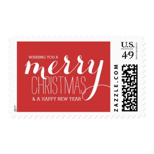 2019 Christmas Stamps.Merry Holiday Wishes Holiday Postage Stamp Zazzle Com