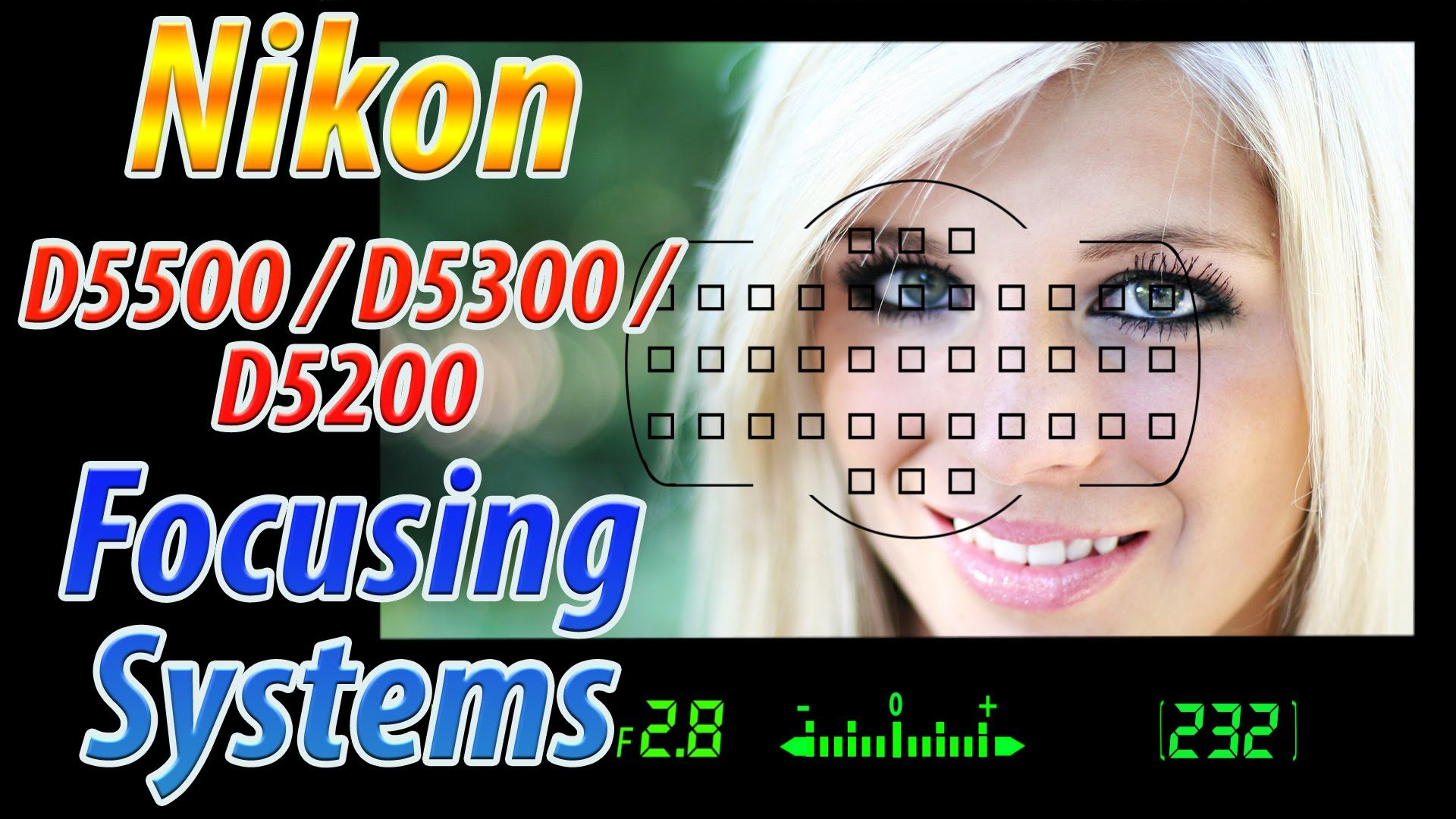 Nikon D5500 / D5300 / D5200 Focus Square Tutorial | How to Focus Trainin...