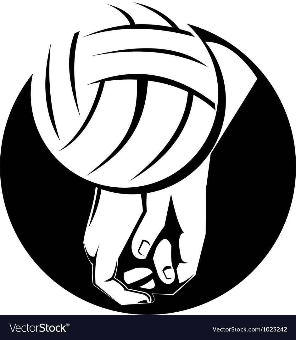Volleyball Player Hitting Ball Royalty Free Vector Image Aff Hitting Ball Volleyball Player Ad Vector Free Free Vector Images Logo Design
