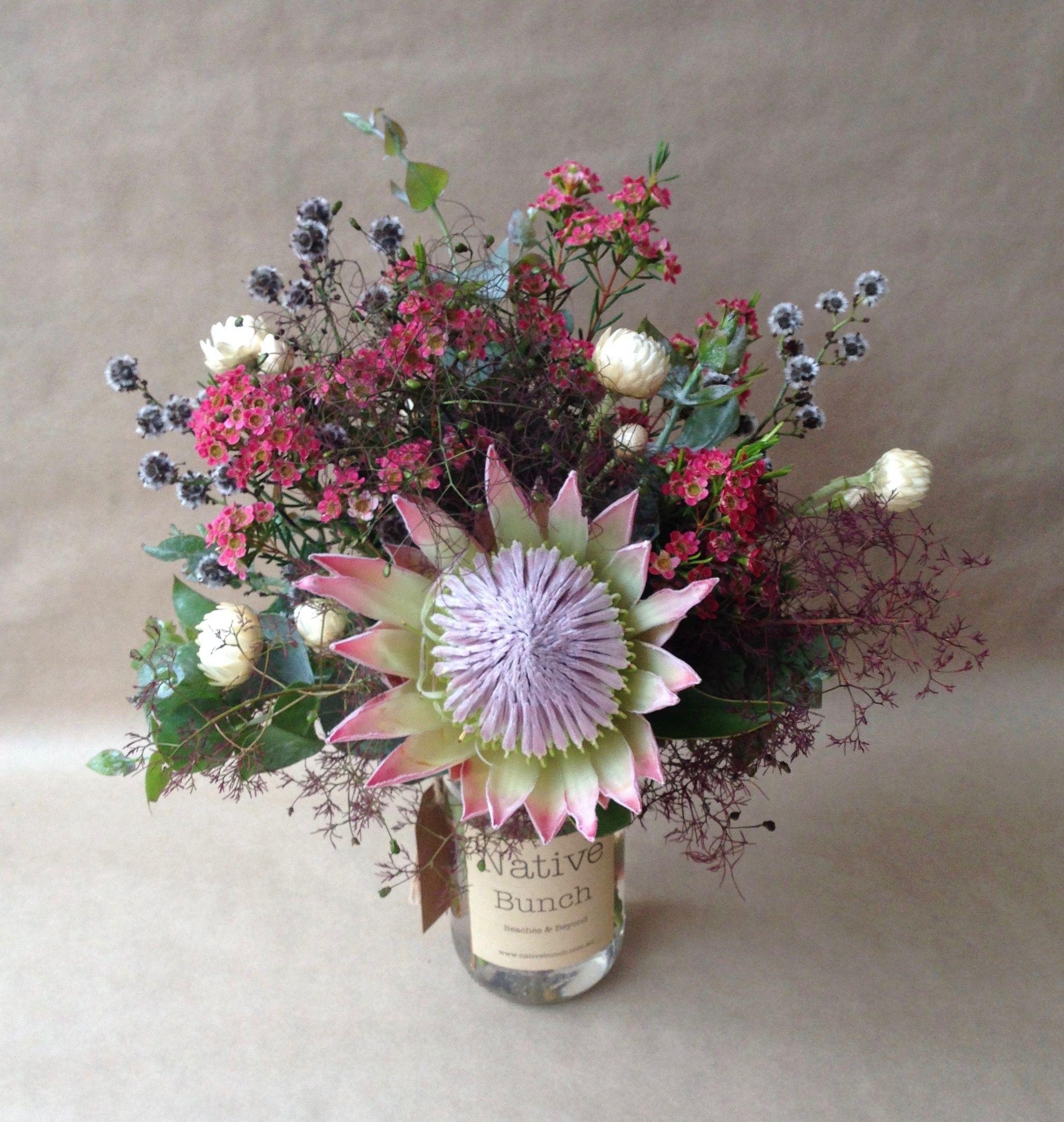 Native Flowers, Protea, Smokebush, Waxflower, Strilingia