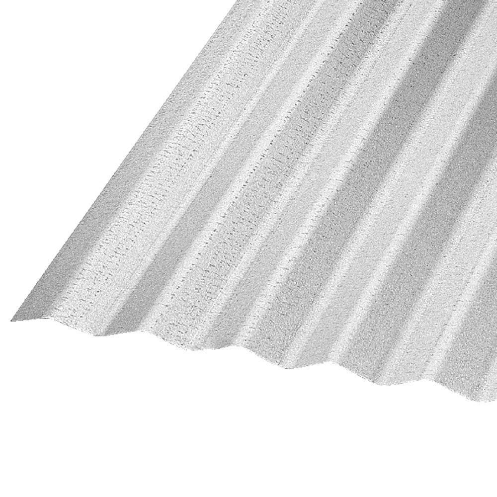 Construction Metals 10 Ft Corrugated Galvanized Steel 29 Gauge Roof Panel Cr10g U The Home Depot Corrugated Roofing Roof Panels Exterior Wall Cladding