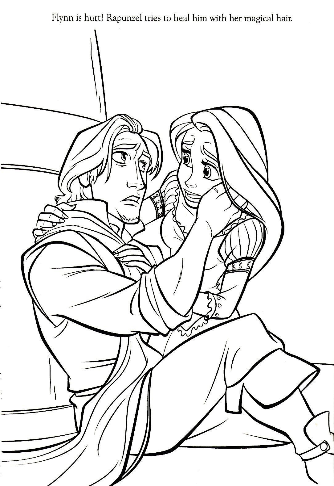 Rapunzel And Flynn Coloring Pages Free Coloring Pages Download ...