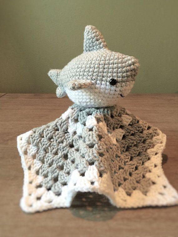 Crochet Shark Baby Lovey Crochet Pinterest Crochet Crochet