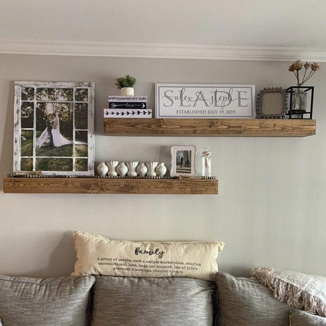 Photo of Floating Shelf, Rustic Shelf, Ledge Shelf, Open Shelving, Nursery Shelf, Floating Shelves, Farmhouse Shelving