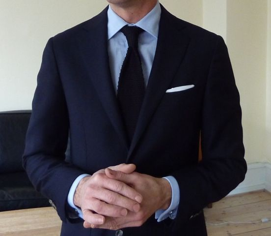 Weddings Blue Suit Black