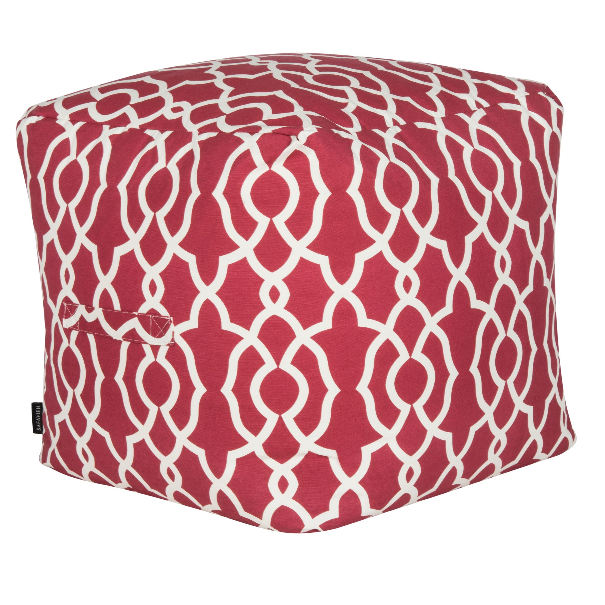 Ottomans red white safavieh ottomans and products