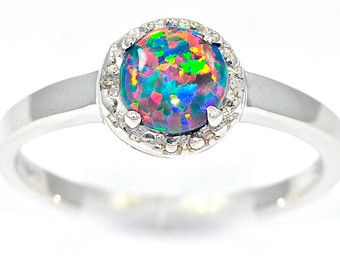opal gemstone rings engagement wedding and more overstockcom