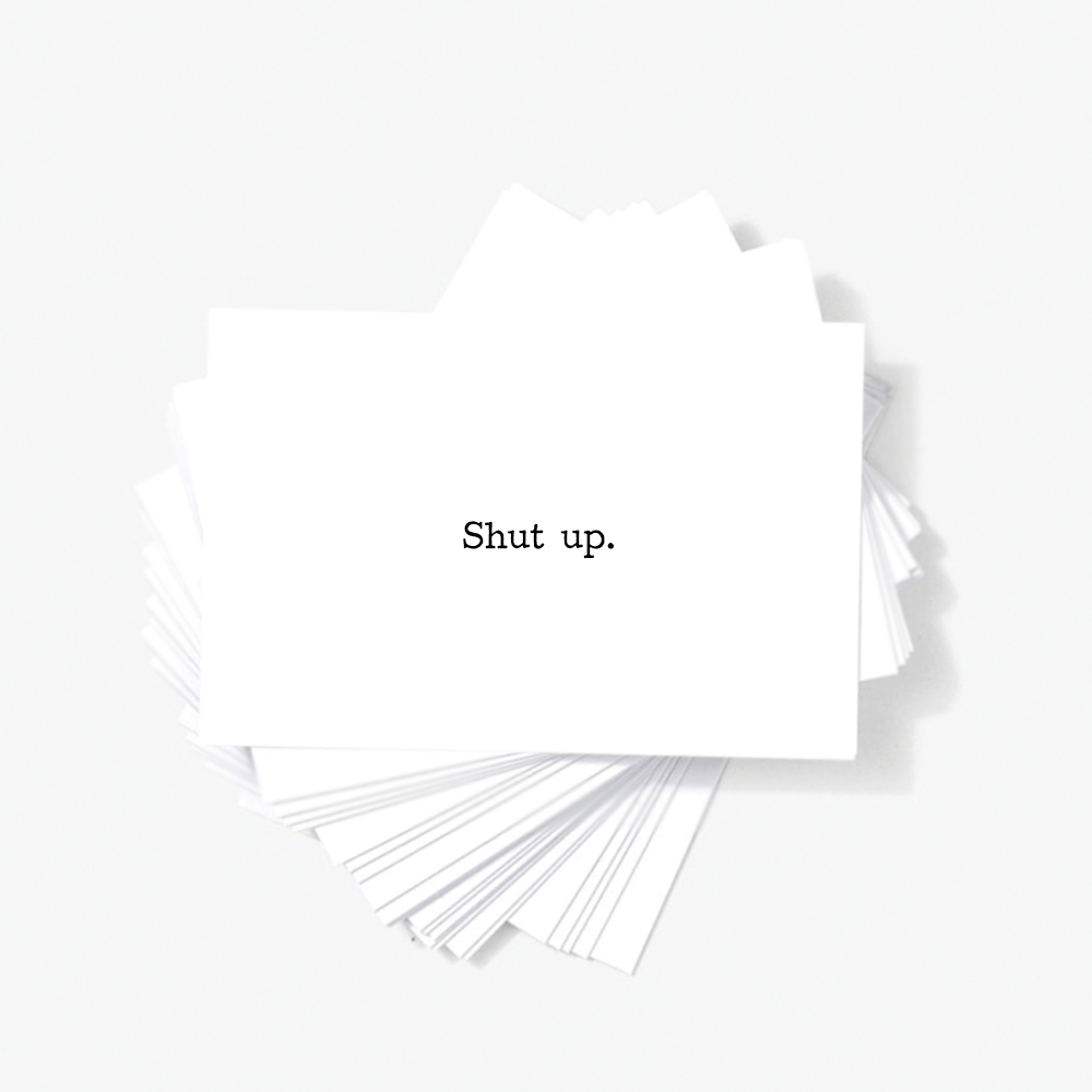 Shut Up Offensive Mini Greeting Cards Sarcastic Mini Note Cards