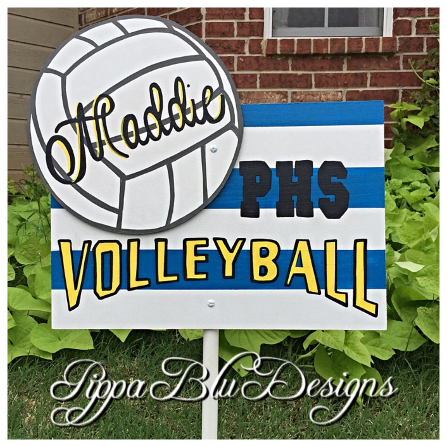 Volleyball Sign Volleyball Yard Sign Personalized Volleyball Sign Volleyball Door Hanger School Sport Sign Volleyball Signs Sports Signs School Yard Signs
