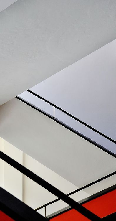 A staircase in the Bauhaus school of design