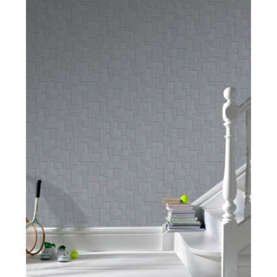 Graham & Brown Shape and Form Checker Wallpaper - 30-176/30-178/30 ...
