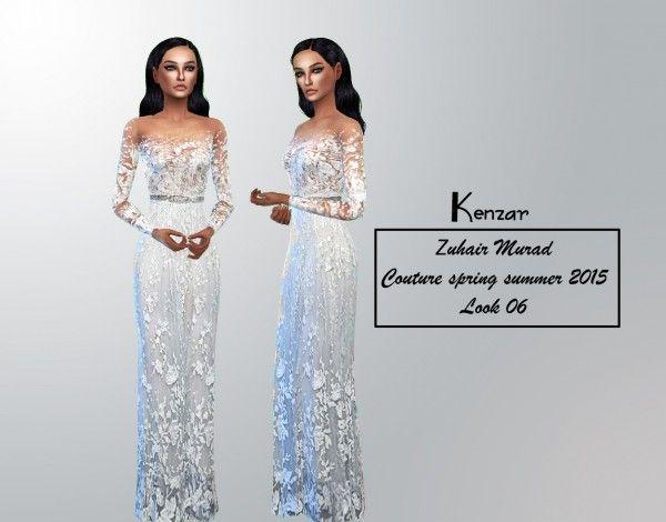 63b6570345ec Kenzar Sims  Murad dress • Sims 4 Downloads