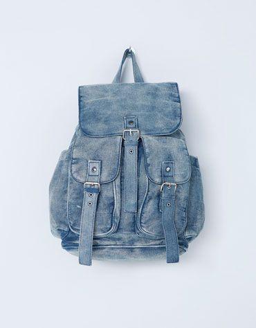 Backpack #pocket #cool #BershkaDenim