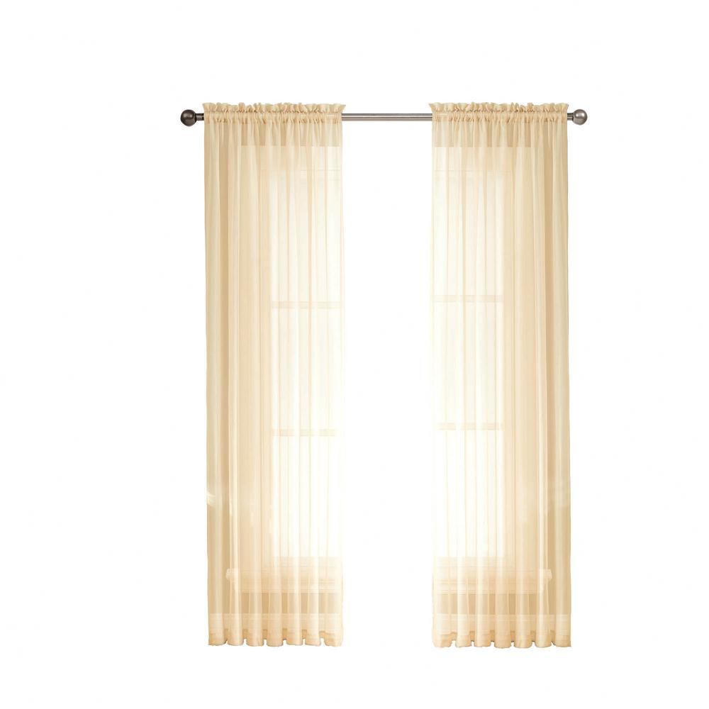 Window Elements Sheer Diamond Sheer Voile Extra Wide 84 In L Rod