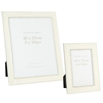Debenhams Ivory enamel diamante stud frames- | Debenhams | wedding ...