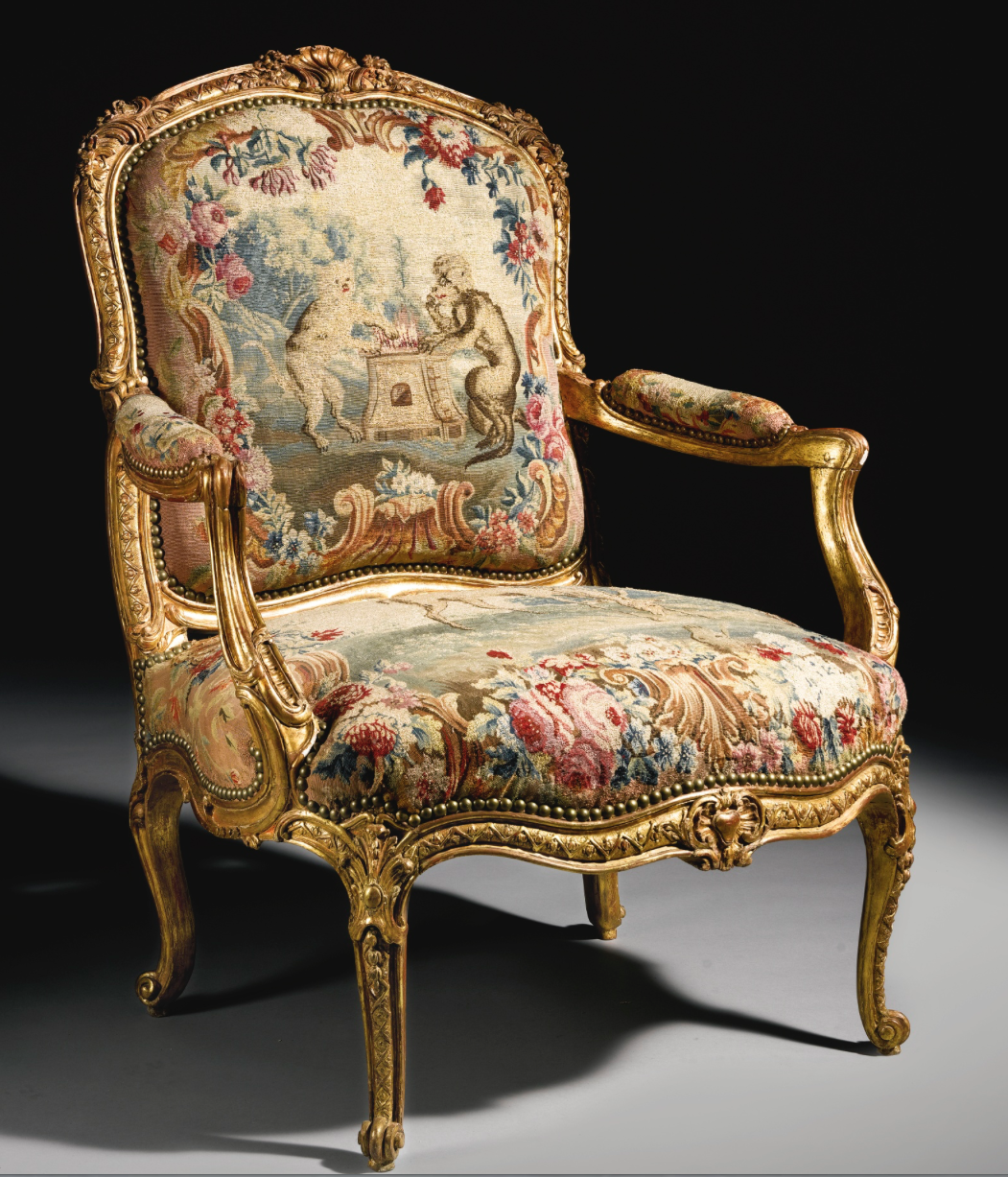 Styles Fauteuils A Rare Pair Of Louis Xv Carved Giltwood Fauteuils Attributed To