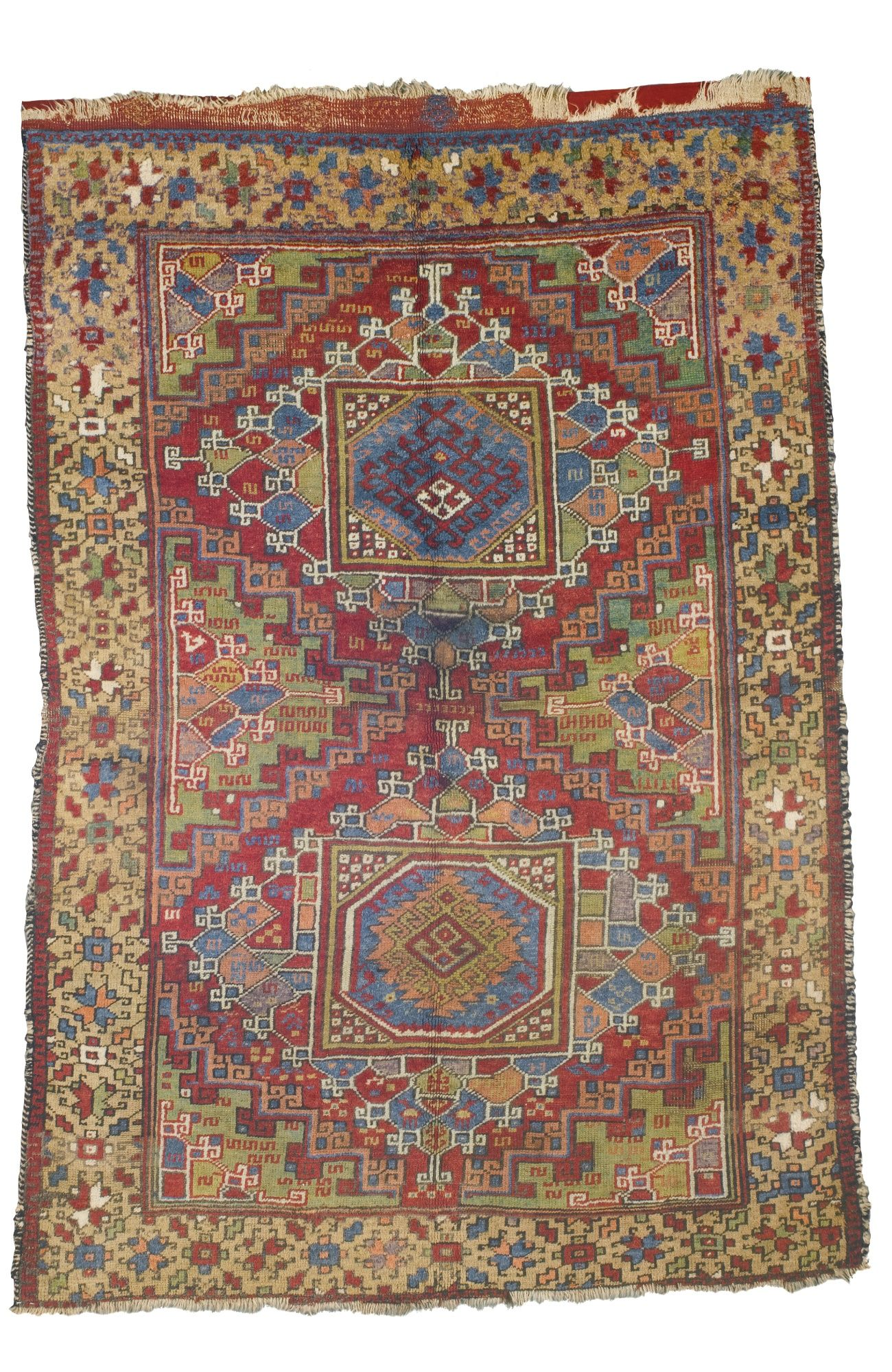 Teppich Geknüpft Modern Bergama Ghirlandaio Rug West Anatolia Approximately 242 By