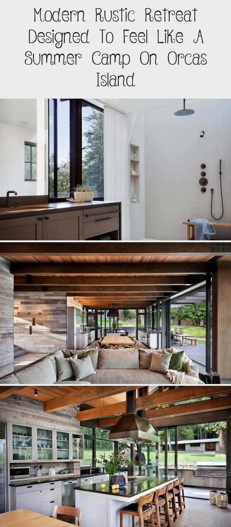 Modern Rustic Retreat Designed To Feel Like A Summer Camp On Orcas Island Rustichomedecorshabby Rustichomedecorapar Rustic Retreat Modern Rustic Rustic House