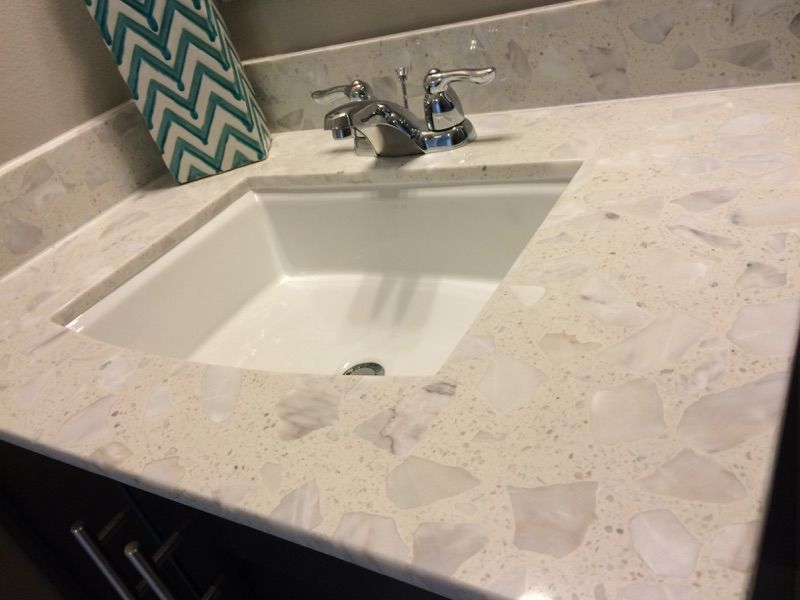 Piedrafina marble bath countertops on display at our new model soon ...