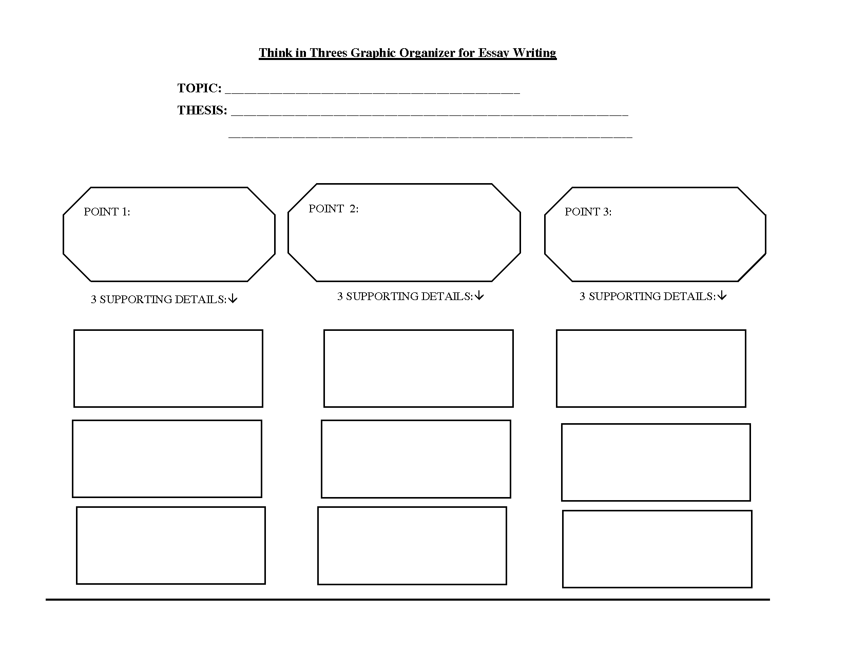 think in threes graphic organizer for essay writing topic think in threes graphic organizer for essay writing topic