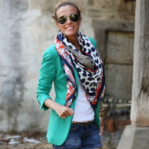 Blazer Verde Aguamarina Chicfy Lace Blazer Outfit Capsule Outfits Fashion