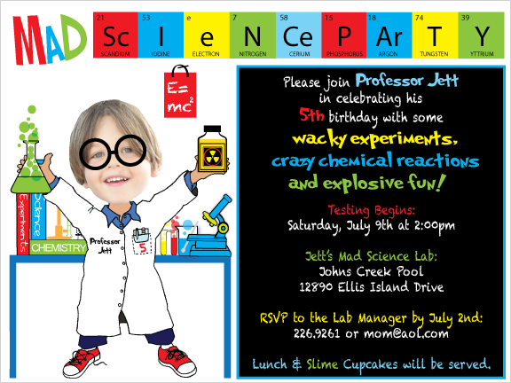 Science party invitations purplemoon mad science party invitations science birthday party invitations science experiment party invitations filmwisefo
