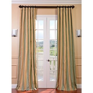 Solid silk with contrast panel on bottom | Curtain ideas ...