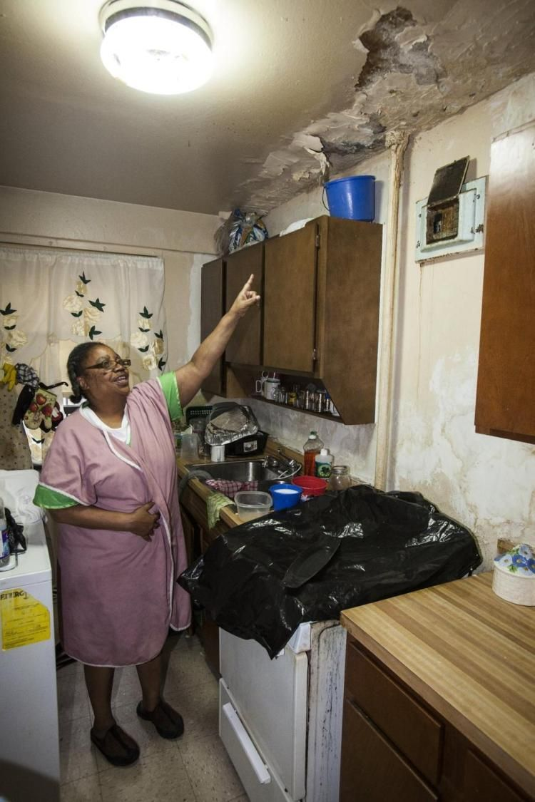 Rundown Kitchen In Martin Luther King Towers Harlem Nyc New York City Apartment Roof Repair Harlem