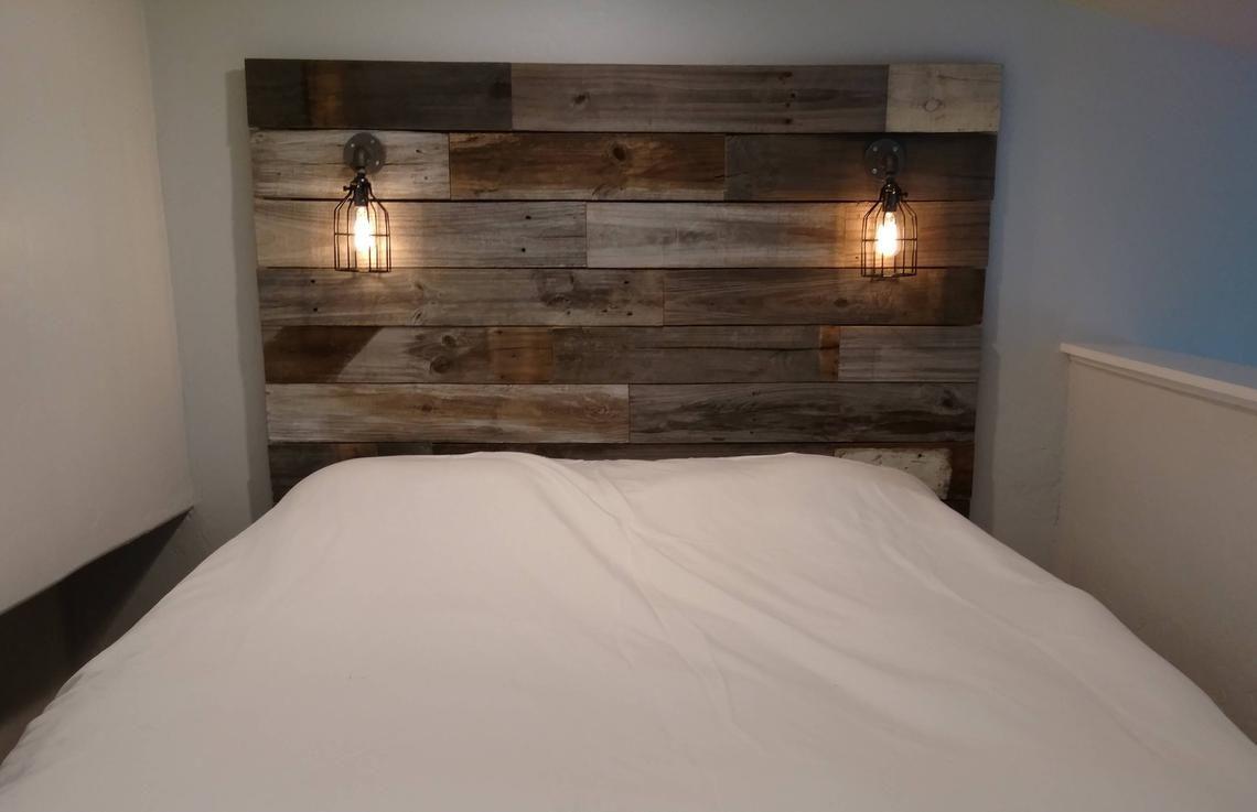 Reclaimed Wood Headboard Distressed Farmhouse Lavender Lullabies