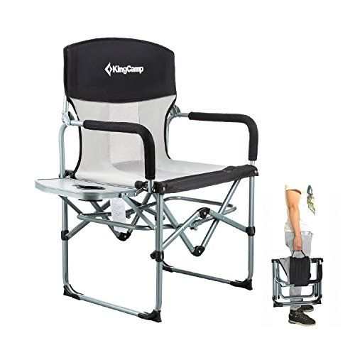 KingCamp Heavy Duty Compact Folding Mesh Chair with Side ...
