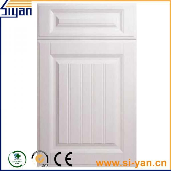 quality pvc film pressed mdf kitchen cabinet door sale china pvc
