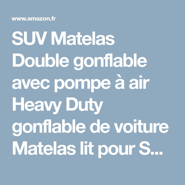suv matelas double gonflable avec pompe air heavy duty gonflable de voiture matelas lit pour. Black Bedroom Furniture Sets. Home Design Ideas