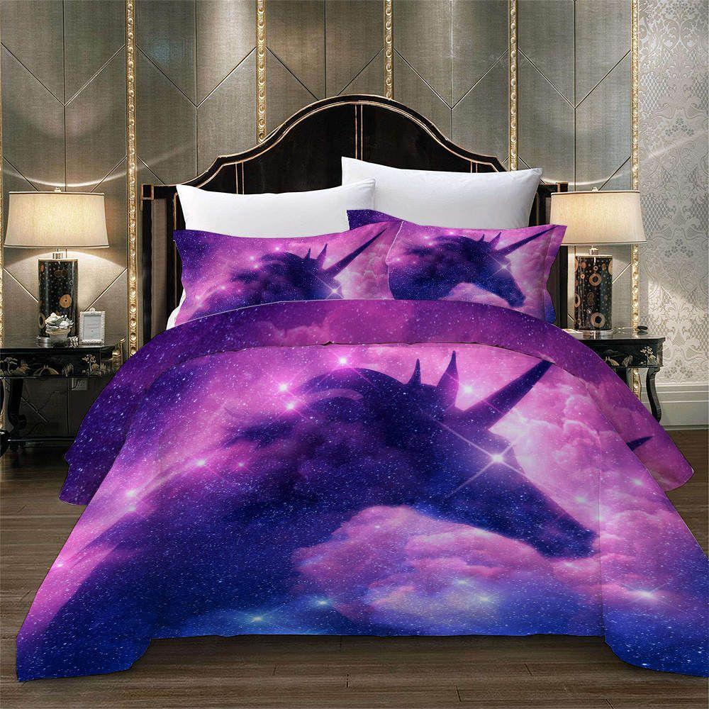 2020 的 Starry Sky Unicorn Fantasy Bedding Set for Girl