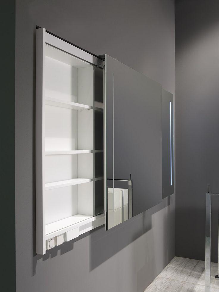 Badkamer spiegelkast symmetrische deuren | Thebalux badkamermeubelen ...