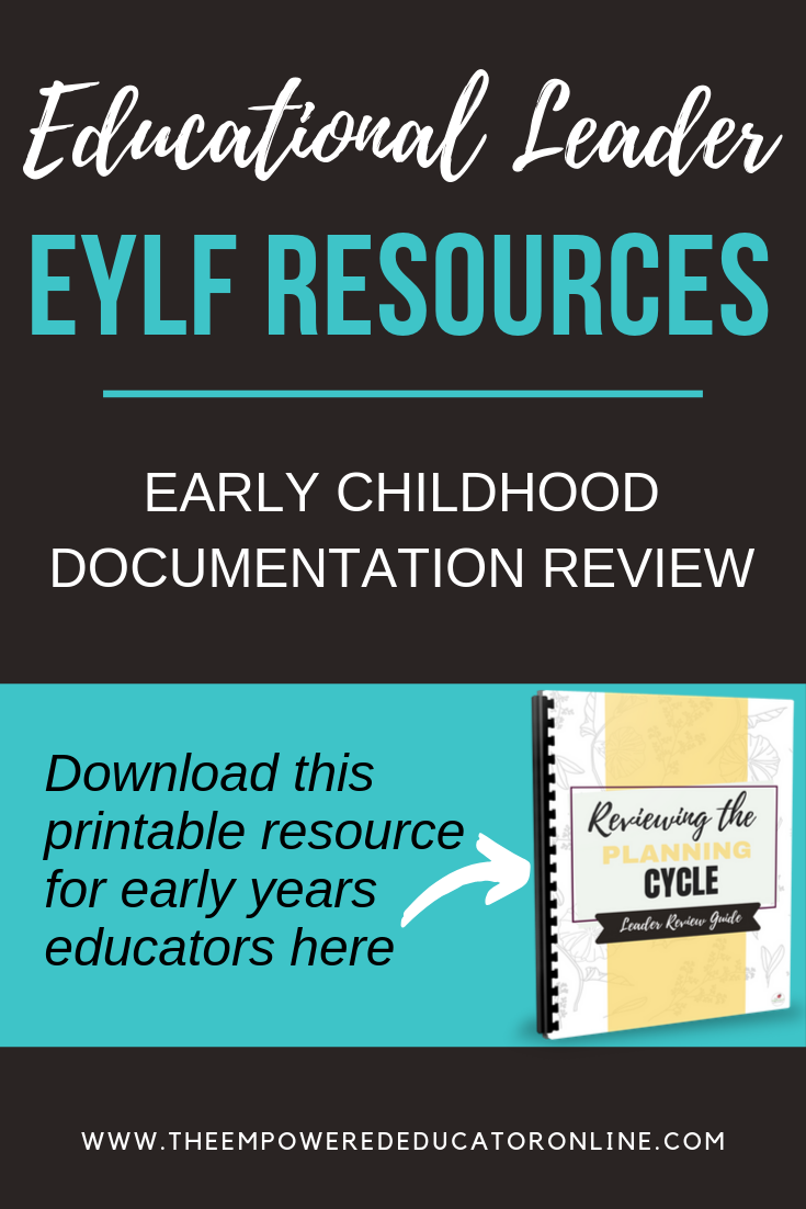 Educational Leader Planning Cycle Review Checklists Planning Cycle Education Infant Lesson Plans