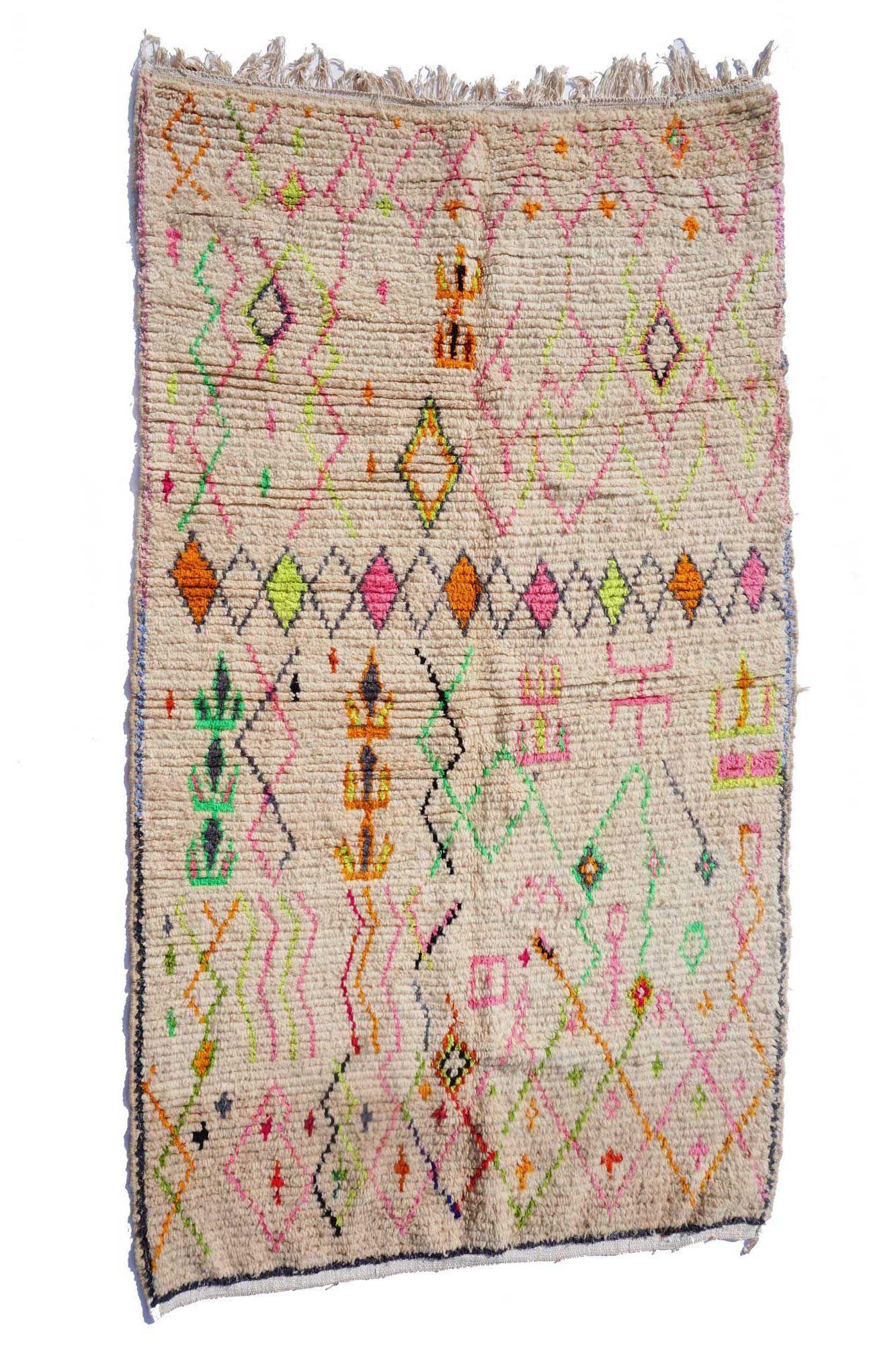 Tapis Berbere Azilal Tapis Berbere Pastel Tapis Berbere Fluo