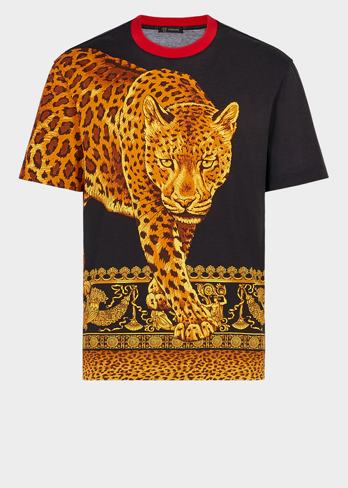 fced1c78f VERSACE Leopard Animalier Print T-Shirt. #versace #cloth #   Versace ...