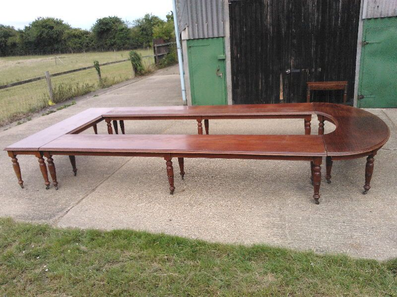 Antique Boardroom Conference Table Large Victorian Mahogany - Antique conference table