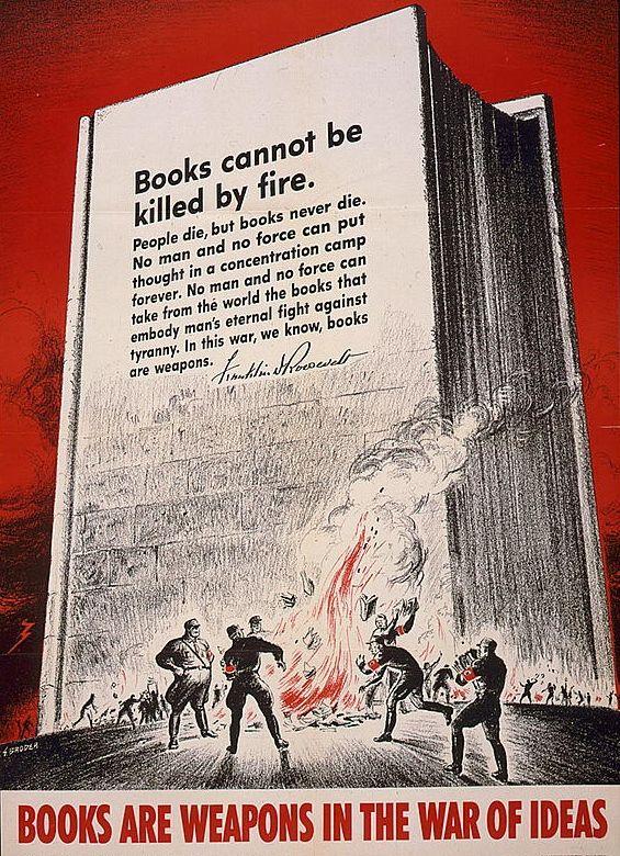 Cartel de la Segunda Guerra Mundial, publicado en 1942