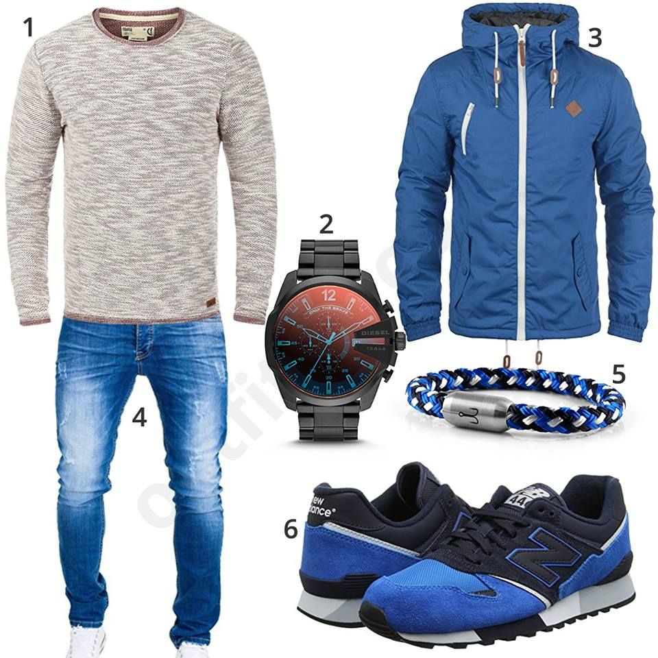 blaues herren outfit mit new balance schuhen u446 m0599 style pinterest herren outfit. Black Bedroom Furniture Sets. Home Design Ideas