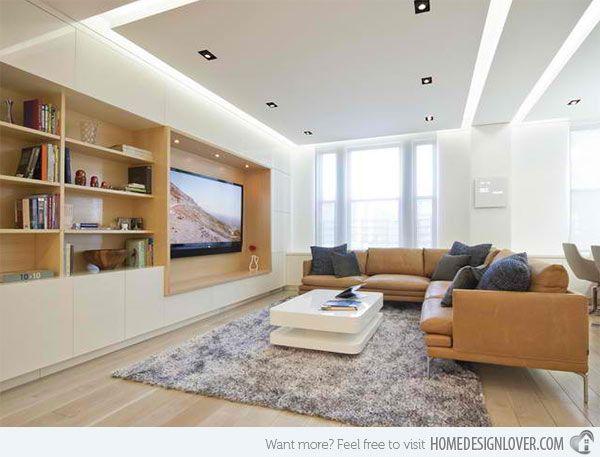 Modern Living Room Built Ins 15 ideas for tv built-in media wall in modern living rooms