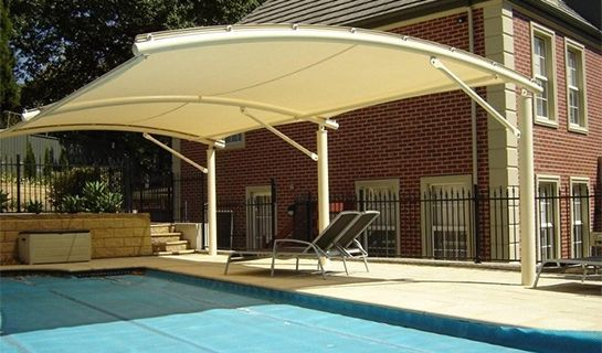 Beau Shade Sails Are Increasingly Popular Options That Give A Truly Modern Look  To A Pool.