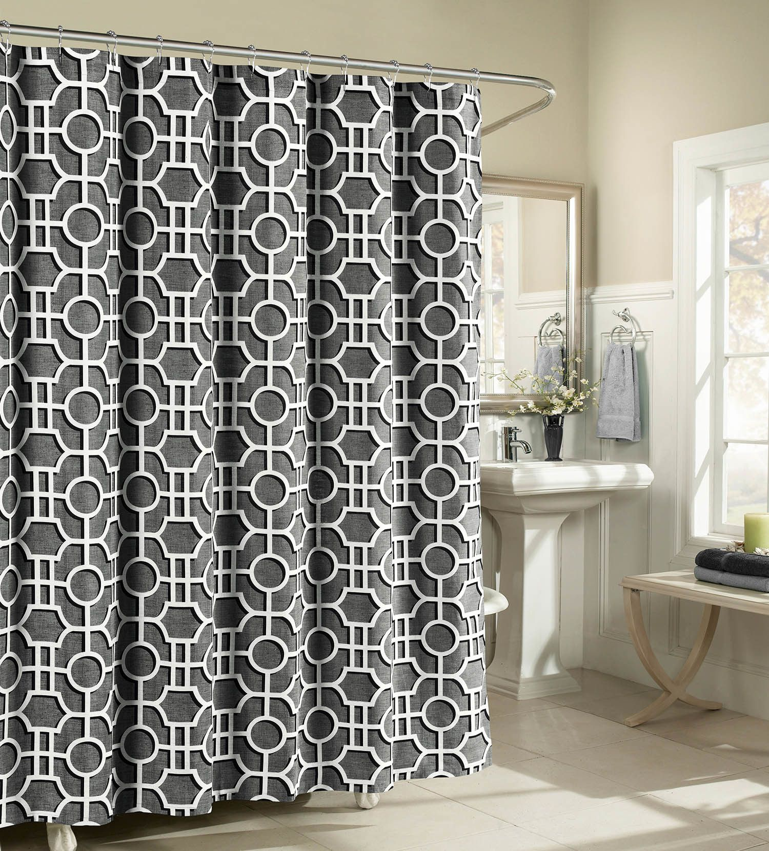 London cotton shower curtain cotton and products