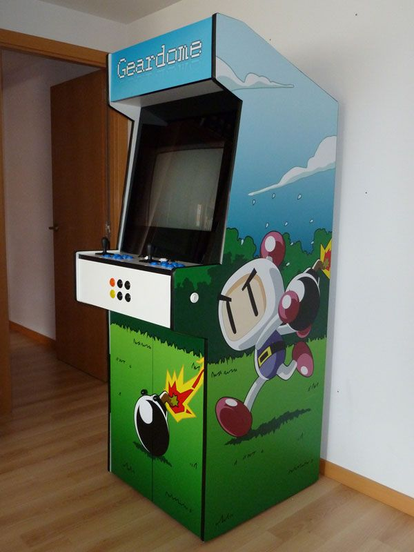 Building an arcade cabinet from scratch httpwww bomberman themed custom arcade cabinet by ignacio snchez gins malvernweather Gallery