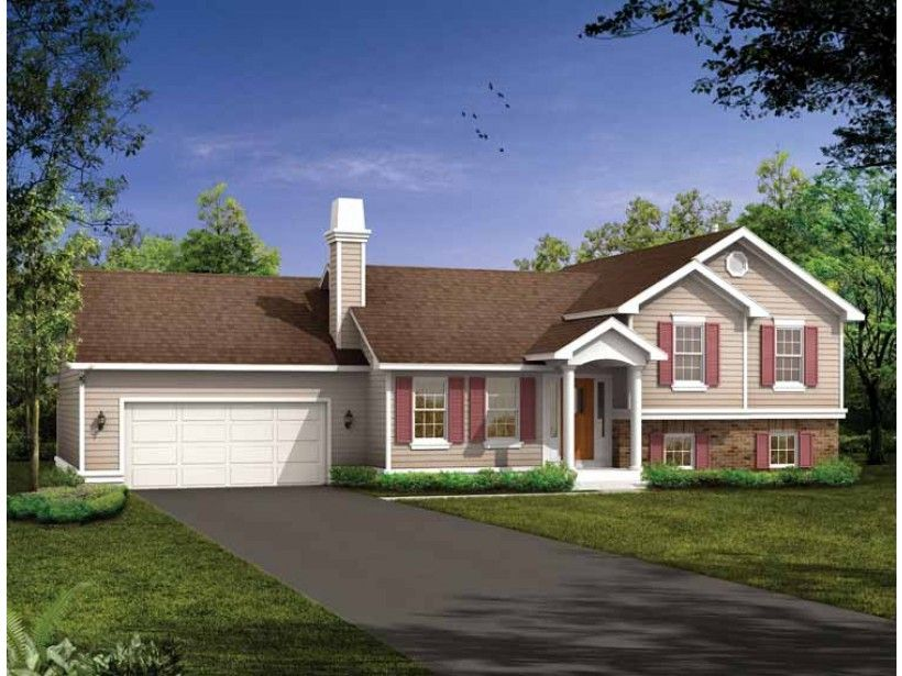 High Quality House Plans Split Eplans Split Level House Plan Well Protected 1285 Square  Feet And
