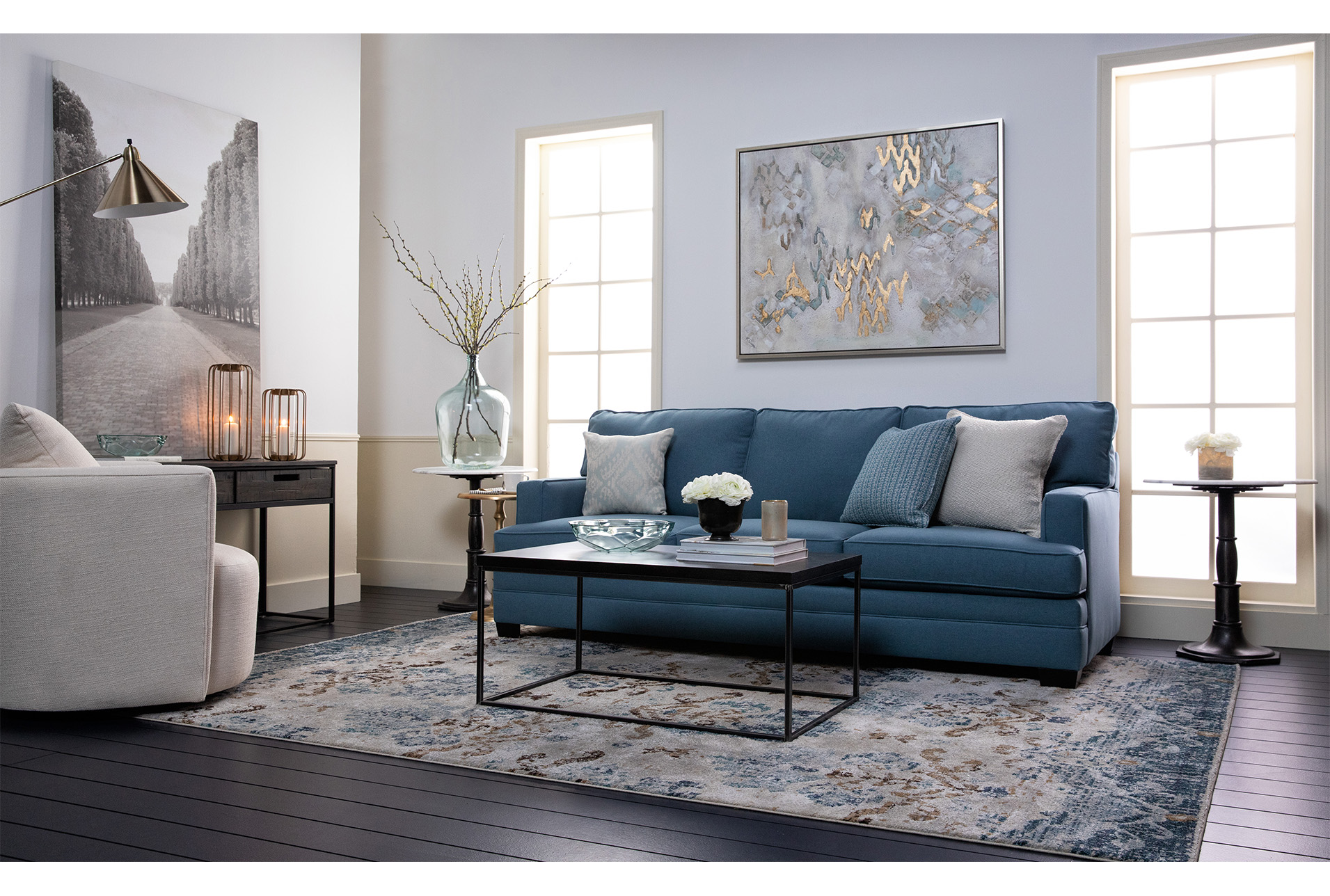 Picture 24x36 Allee Effect By Karyn Millet Living Spaces Sofa