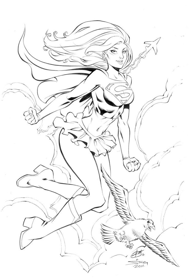 Supergirl WWC by MarkStegbauer | coloring pages | Pinterest