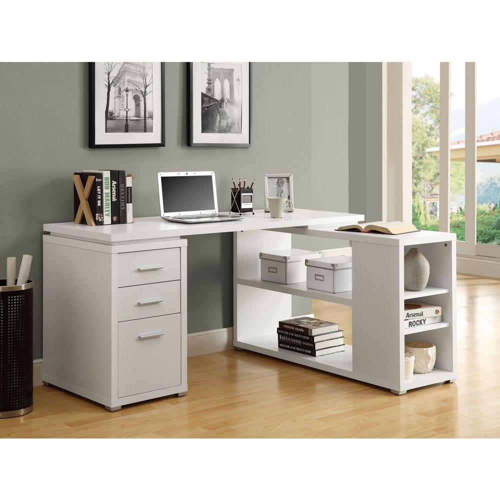 Monrach White Left Or Right Facing Corner Desk